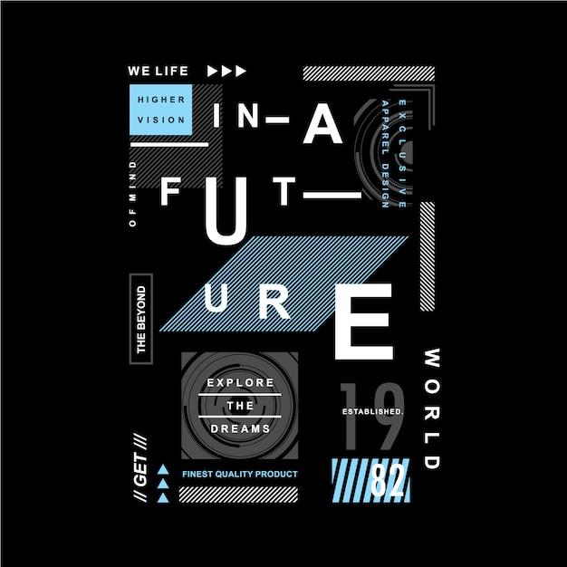 Żyjemy W Przyszłym Typograficznym Projekcie Graficznym Premium Wektorów