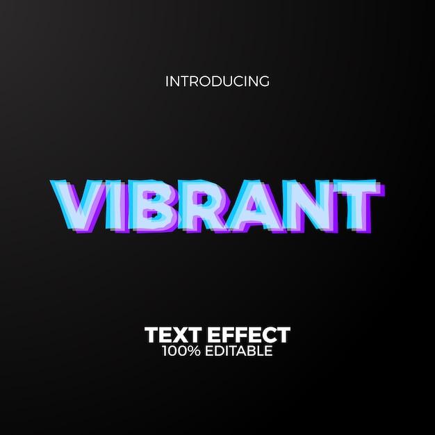 Żywy, Edytowalny Efekt Tekstowy W Neonowym Kolorze Dla Przyszłych Współczesnych Premium Wektorów