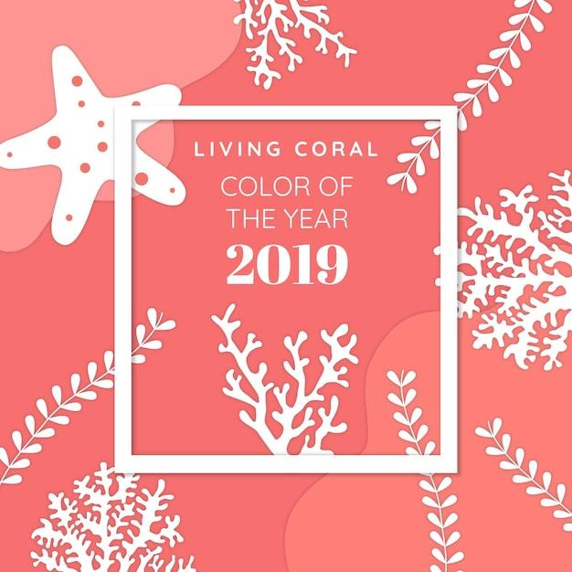 Żywy koral tło Darmowych Wektorów