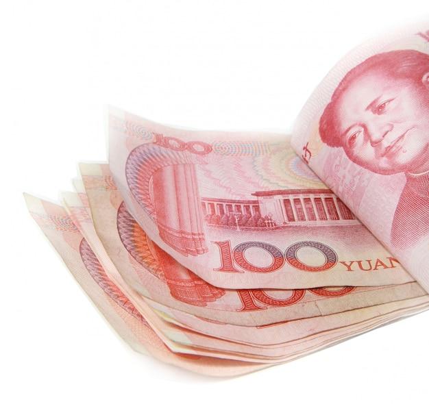 100 słów, stos 100 rachunków juanów Premium Zdjęcia