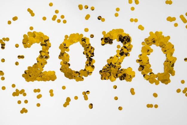 2020 nowy rok cyfry złote cekiny Darmowe Zdjęcia