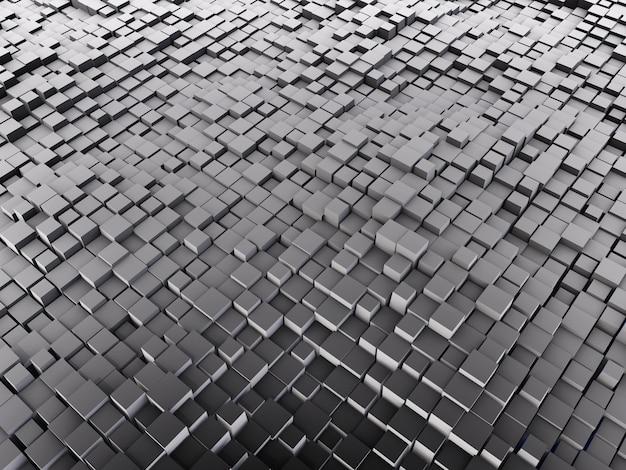 3d Abstrakcjonistyczny Tło Z Szarymi Sześcianami Darmowe Zdjęcia