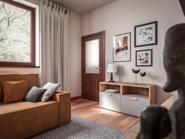 3d Architektura Pokoju Premium Zdjęcia