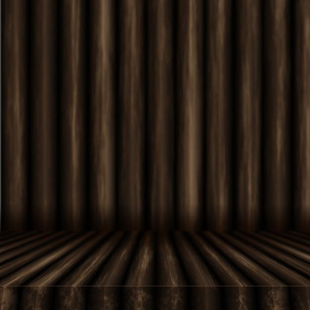 3d Drewniany Stół Patrząc Na Drewnianą ścianę Darmowe Zdjęcia