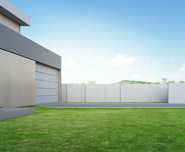 3d Ilustracja Budynek Mieszkalny Powierzchowność. Premium Zdjęcia
