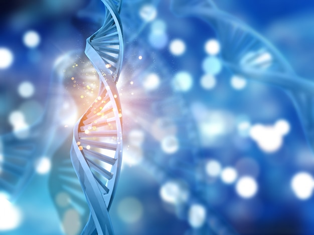 3D nici DNA na abstrakcyjnym tle Darmowe Zdjęcia