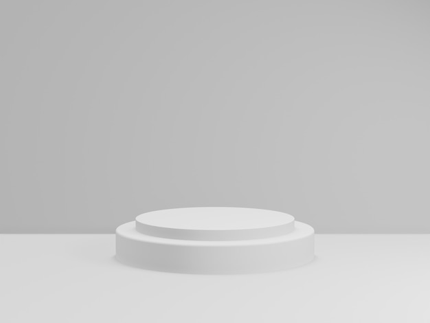 3d Odpłacają Się Całkowity Biały Podium Dla Produktu. Etap Makiety. Premium Zdjęcia