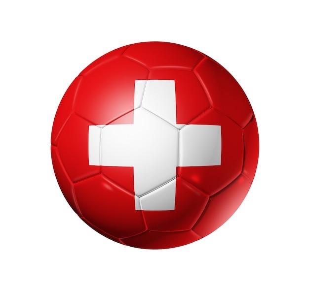 3d Piłka Z Flagą Drużyny Szwajcarii Premium Zdjęcia