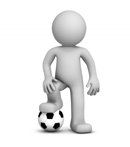3d Piłkarz. Premium Zdjęcia