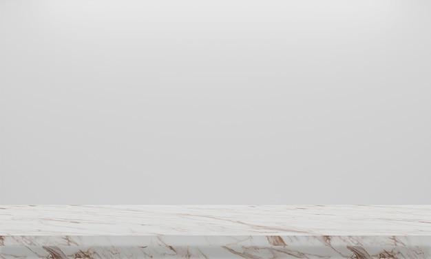 3d rendering abstrakcjonistyczna naturalna tekstura marmuru podłoga na białym tle. aranżacja wnętrz lub wystaw swój produkt. Premium Zdjęcia