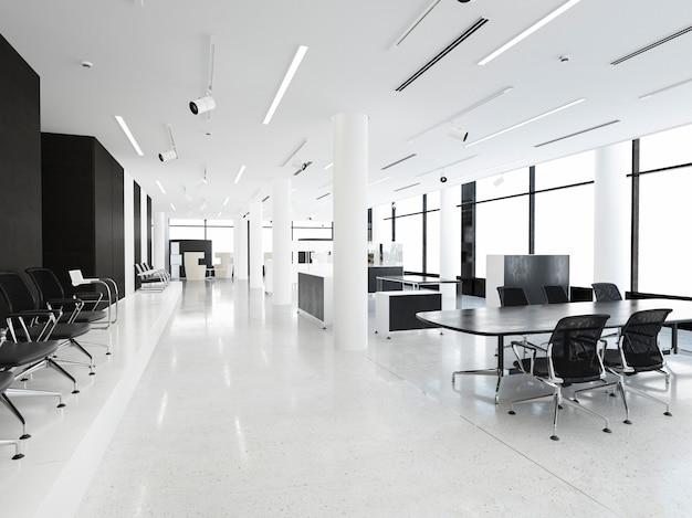 3d rendering biznesowy pokój konferencyjny na budynku biurowym Premium Zdjęcia