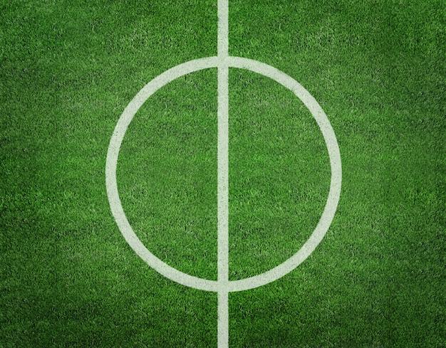 3d rendering linia na boisko do piłki nożnej. Premium Zdjęcia