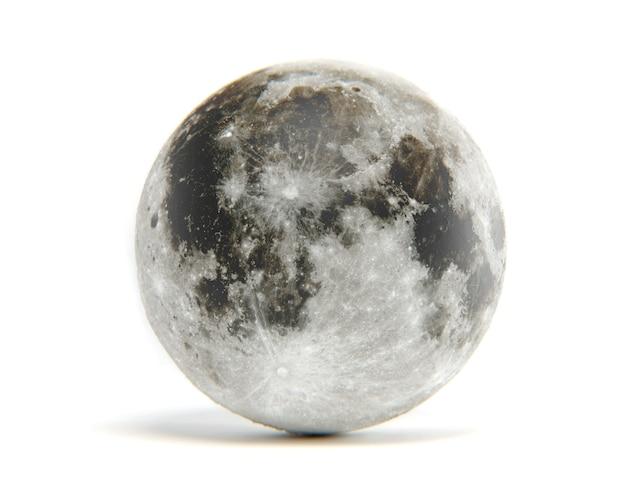 3d Rendering Odizolowywający Księżyc. Elementy Tego Obrazu Zostały Dostarczone Przez Nasa Premium Zdjęcia