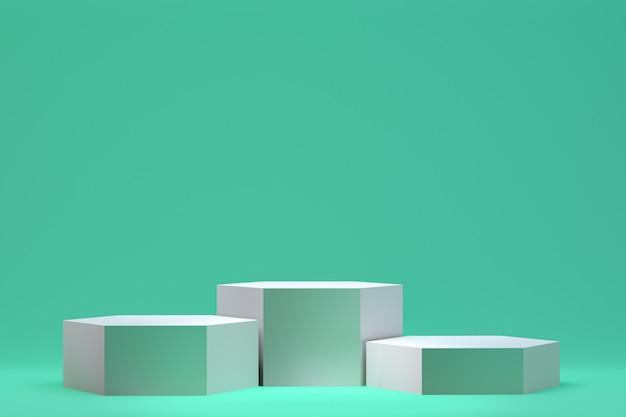 3d Rendering, Podium Minimalne Streszczenie Tło Do Prezentacji Produktów Kosmetycznych, Streszczenie Geometryczny Kształt Premium Zdjęcia