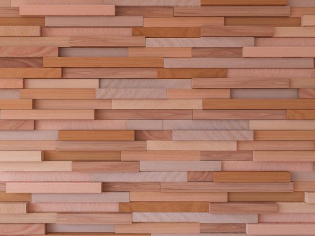 3d Renderingu Wizerunek Drewniana ściana Premium Zdjęcia
