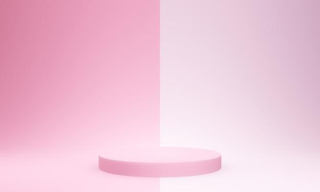 3d Renderowane Makieta Różowego Podium Premium Zdjęcia