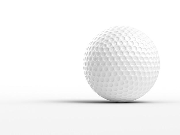 3d wizerunek klasyczna złocista piłka na białym tle Premium Zdjęcia