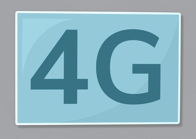 4g Sieci Komunikacyjnej Ikony Ilustracja Darmowe Zdjęcia