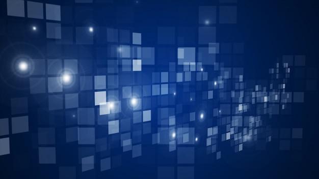 Abstrakcjonistyczna Błękitna Błyska Prostokąta Siatka Płynie Perspektywicznego Tło Premium Zdjęcia