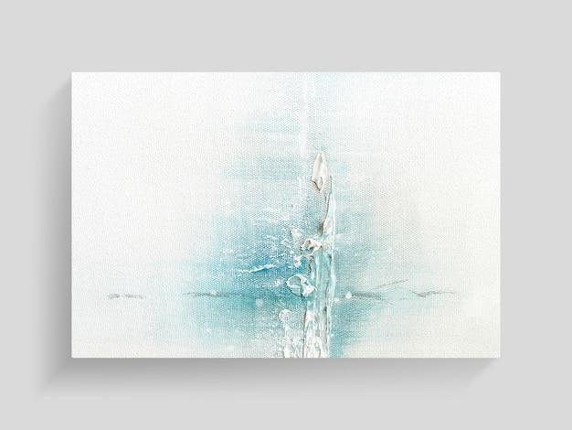 Abstrakcjonistyczna obraz sztuka na brezentowym tekstury tle. close-up image. Premium Zdjęcia