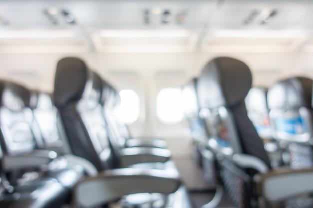 Abstrakcjonistyczna plama i defocused siedzenie w samolotowym wnętrzu Darmowe Zdjęcia