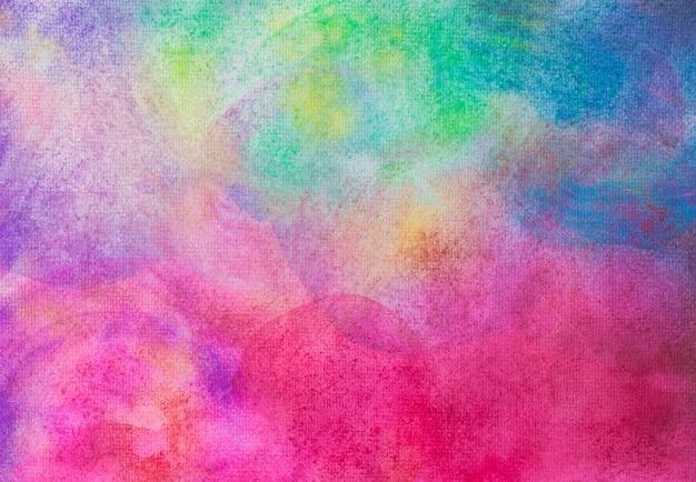 Abstrakcjonistyczna ręka malująca akwarela na malować papierowego tło i teksturę. Premium Zdjęcia