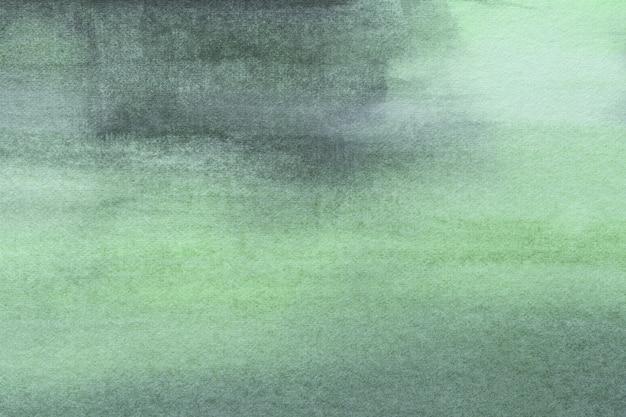 Abstrakcjonistycznej Sztuki Tła Jasnozieloni I Cyan Kolory. Akwarela Na Płótnie Z Delikatnym Gradientem Oliwek. Premium Zdjęcia