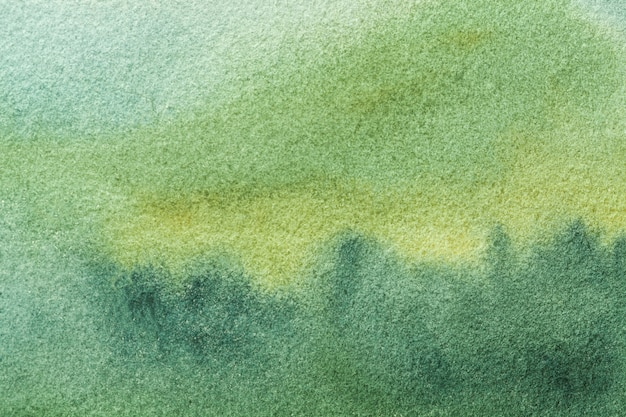 Abstrakcjonistycznej Sztuki Tła światła Oliwka I Zieleni Kolory. Akwarela Na Płótnie Z Delikatnym Błękitnym Gradientem. Premium Zdjęcia