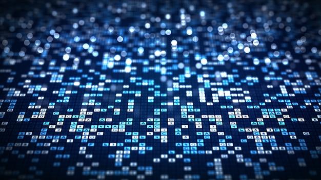 Abstrakcjonistycznej Technologii Dużych Dane Cyfrowego Kodu Futurystyczny Tło. Premium Zdjęcia