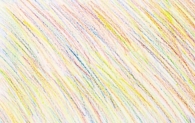 Abstrakcjonistyczni kredkowi rysunki na białego papieru tle - tekstura Premium Zdjęcia