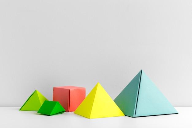 Abstrakcjonistyczny kolorowy geometrical zakończenie w górę miękkiej ostrości Premium Zdjęcia