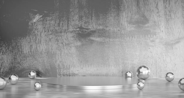 Abstrakcjonistyczny Szary Produkt Sceny Reklamy Teraźniejszości Tła 3d Rendering. Premium Zdjęcia