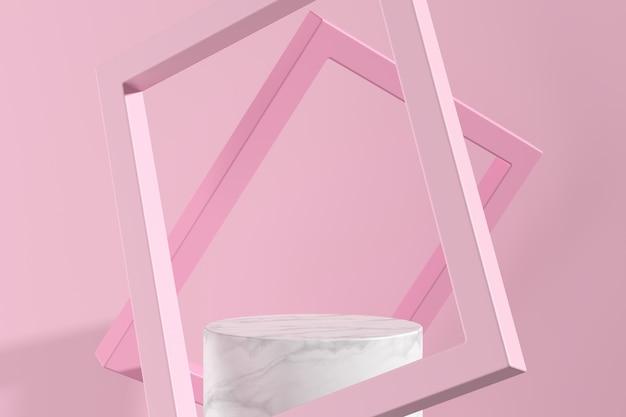 Abstrakcjonistyczny Tło, Wyśmiewa W Górę Sceny Dla Produktu Pokazu. Renderowanie 3d Premium Zdjęcia