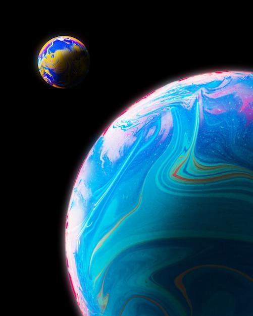 Abstrakcjonistyczny tło z błękitnymi różowymi i pomarańczowymi sferami Darmowe Zdjęcia