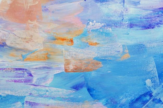 Abstrakcyjne tło ręcznie rysowane malarstwo akrylowe Premium Zdjęcia