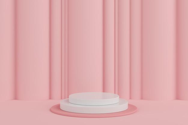 Abstrakcyjny Kształt Geometryczny Pastelowy Kolor, Wyświetlacz Podium Dla Produktu. Minimalna Koncepcja. Tło Renderowania 3d. Premium Zdjęcia