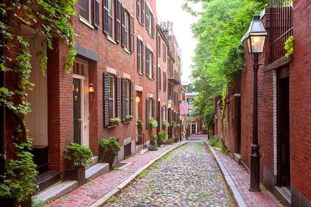 Acorn ulicy beacon hill brukowiec boston Premium Zdjęcia