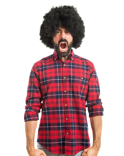 Afro Mężczyzna Krzyczy Darmowe Zdjęcia