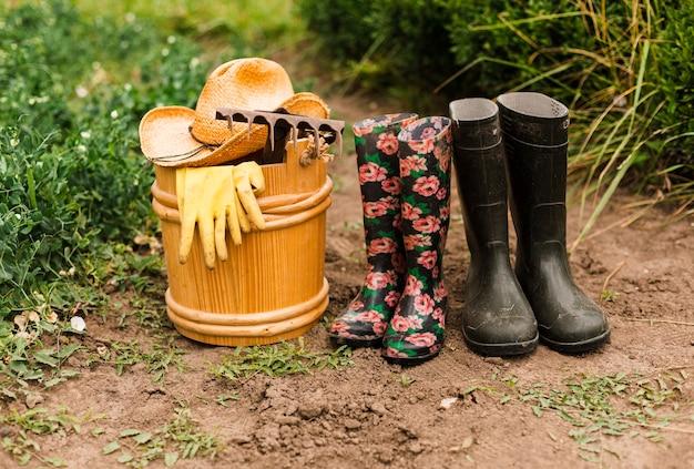 Akcesoria ogrodnicze z bliska Darmowe Zdjęcia
