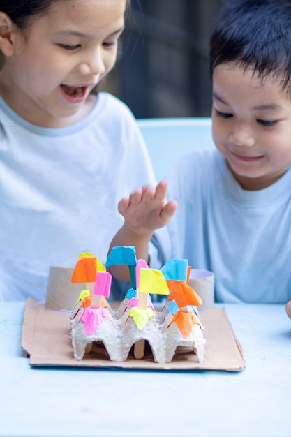 Aktywność Domowa Dla Dzieci Premium Zdjęcia