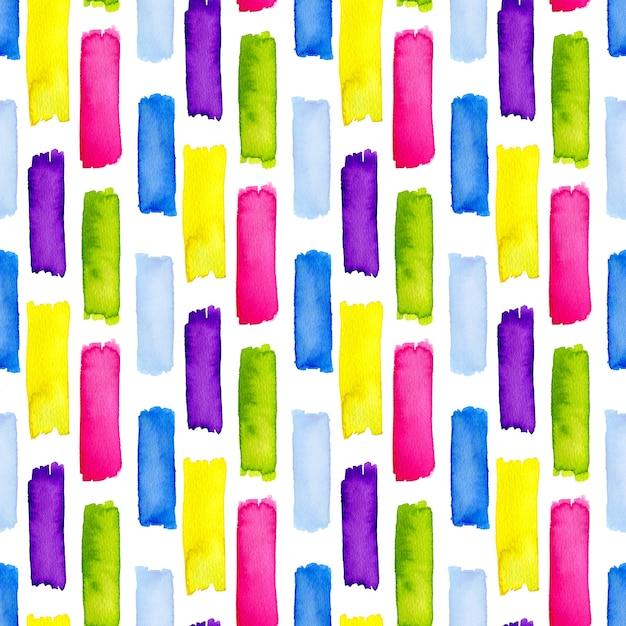 Akwarela bezszwowe wzór w paski tęczy. nowoczesny design do dekoracji tekstylnych lub urodzinowych Premium Zdjęcia