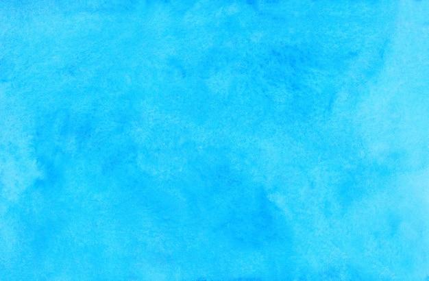 Akwarela Jasnobłękitny Tło. Akwarela Jasne Błękitne Niebo Plamy Na Papierze. Tło Artystyczne. Premium Zdjęcia
