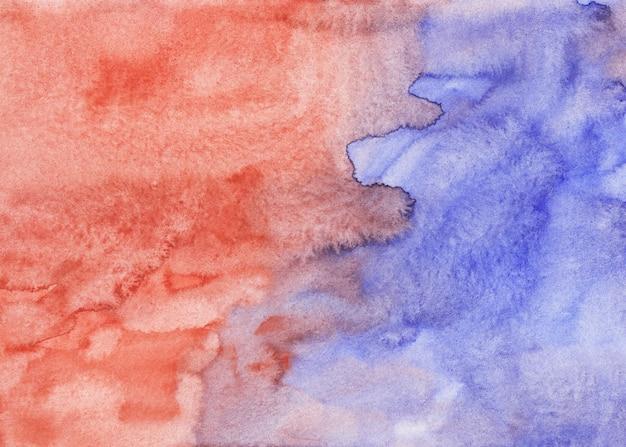 Akwarela Jasnofioletowe I Czerwono Brązowe Tło Malowanie Tekstury. Wielobarwny Akwarela Pastelowe Tło, Plamy Na Papierze. Premium Zdjęcia