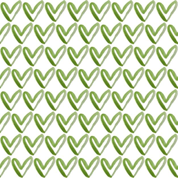 Akwarela Malarstwo Zielony Kształt Serca Premium Zdjęcia