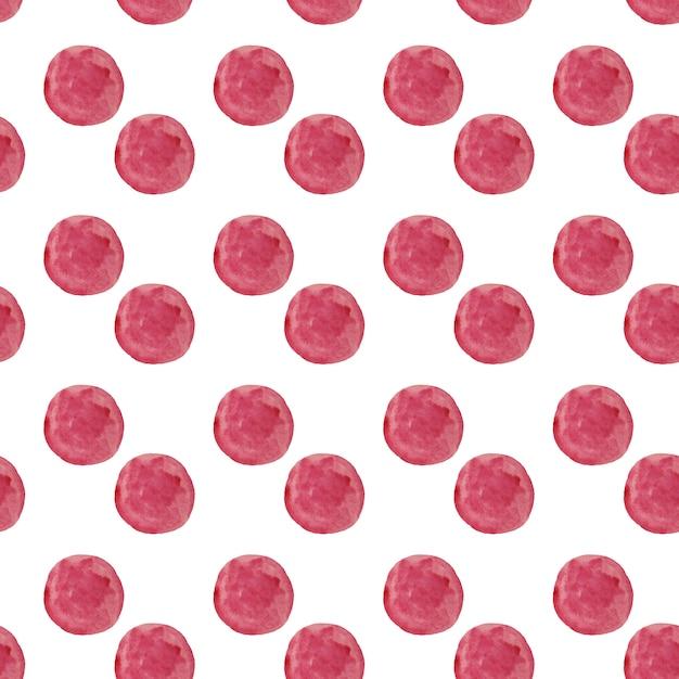 Akwarela Okrągły Wzór Kropek. Bezszwowe Ręcznie Rysowane Wzór. Ręcznie Rysowane Streszczenie Tapeta Premium Zdjęcia
