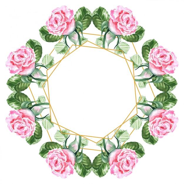 Akwarela Rysunek Bukiet Róż Premium Zdjęcia