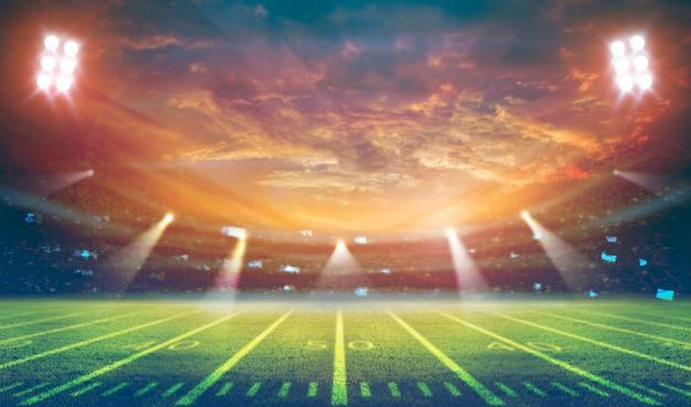Amerykański Stadium Piłkarski 3d Rendering Premium Zdjęcia