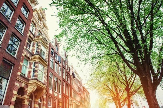 Amsterdam, Holandia . Centrum Istorychnyy Premium Zdjęcia