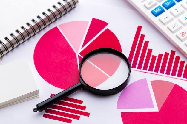 Analiza wykresów graficznych Premium Zdjęcia