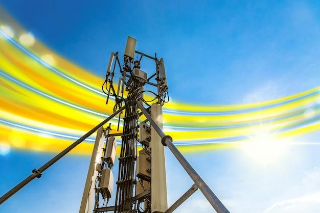Antena Telefoniczna, Z Sygnałem Telefonicznym 5g Premium Zdjęcia